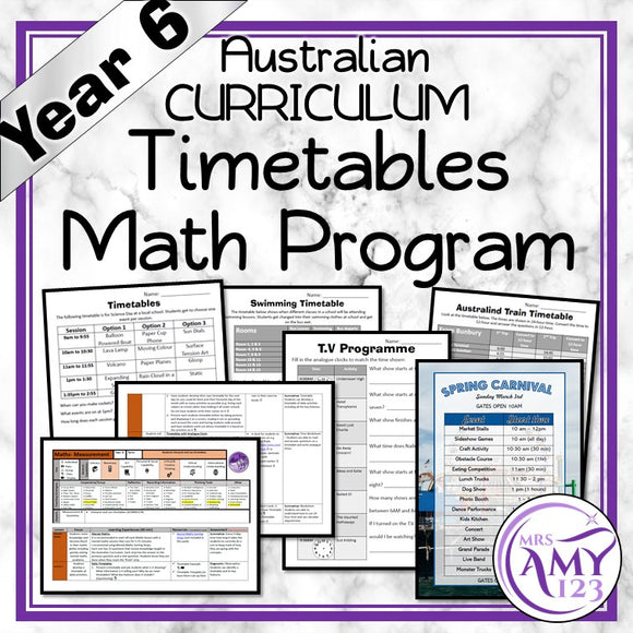 Year 6 Timetables Maths Program