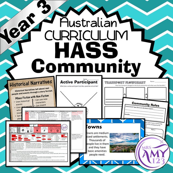YEAR 3 HASS Community Unit - Geography & History