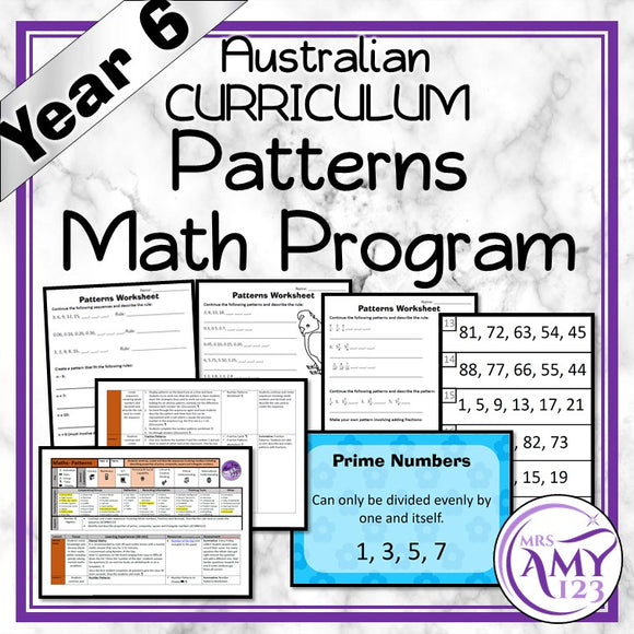 Year 6 Patterns Maths Program