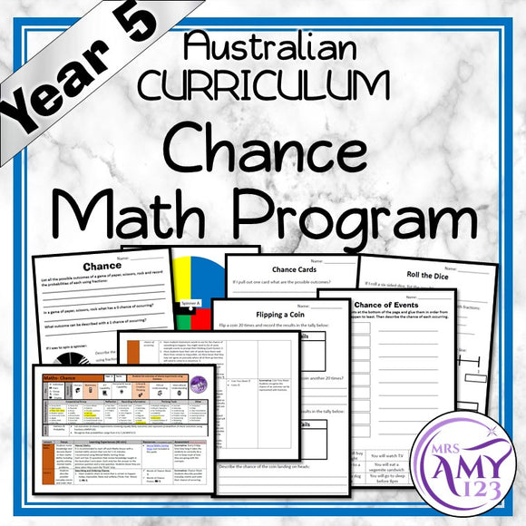 Year 5 Chance Maths Program