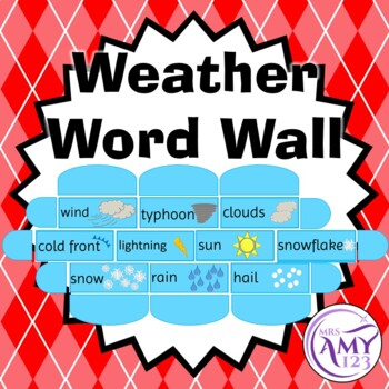 Weather Word Wall Cards