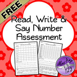 Read, Write and Say Number Assessment