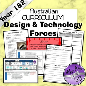 Australian Curriculum Year 1 & 2 Design & Technology Forces Unit