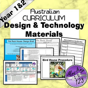 Australian Curriculum Year 1 & 2 Design & Technology Materials Unit