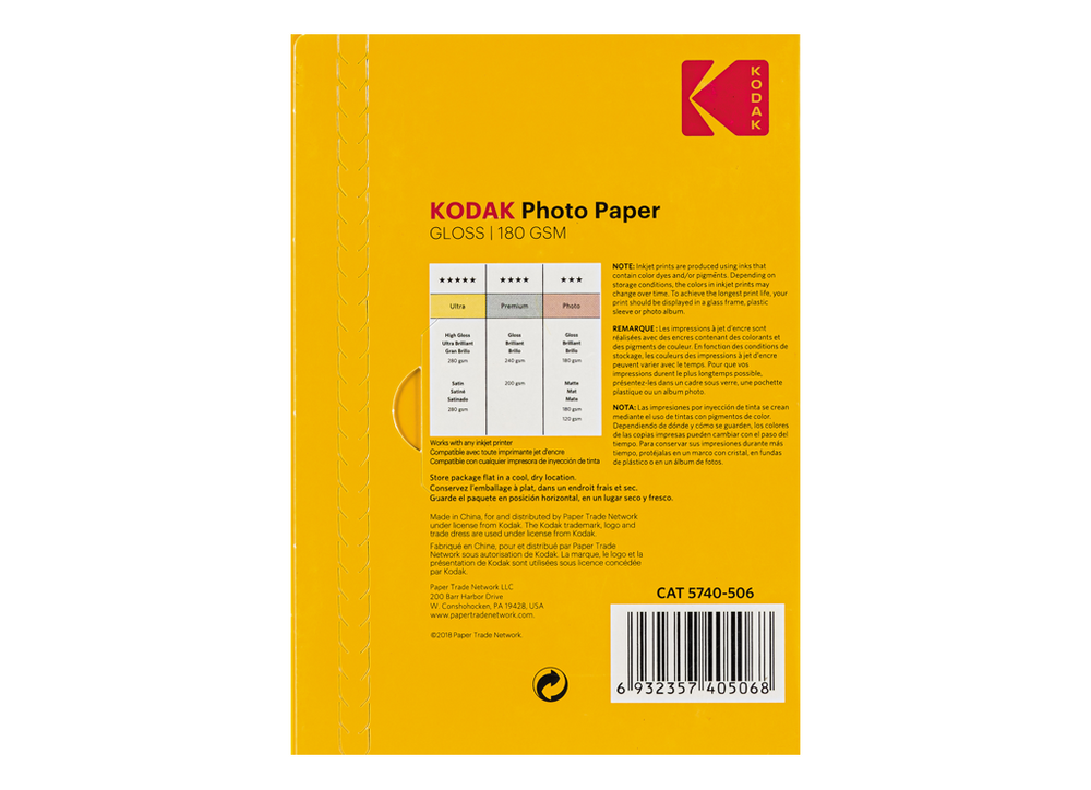 Kodak Photo Paper High Gloss 180