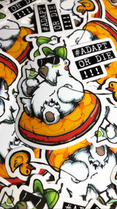 Adapt or Die Series - Polar Bear Vinyl Sticker