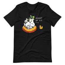 "Load image into Gallery viewer, ""Adapt or die"" Polar Bear Unisex Eco Tee"