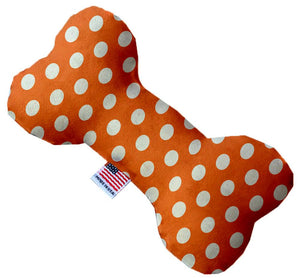 Melon Orange Swiss Dots Canvas Dog Toys - staygoldendoodle.com
