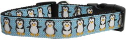 Penguins Nylon And Ribbon Collar and Leash from StayGoldenDoodle.com