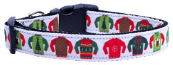 Ugly Christmas Sweaters Nylon And Ribbon Collar and Leash from StayGoldenDoodle.com