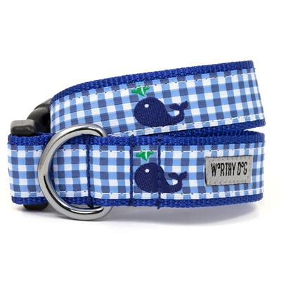 Gingham Whale Collar & Lead Collection
