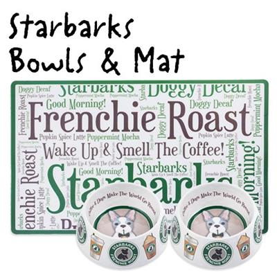 Starbarks Frenchie Roast Bowl and Placemat Bundle