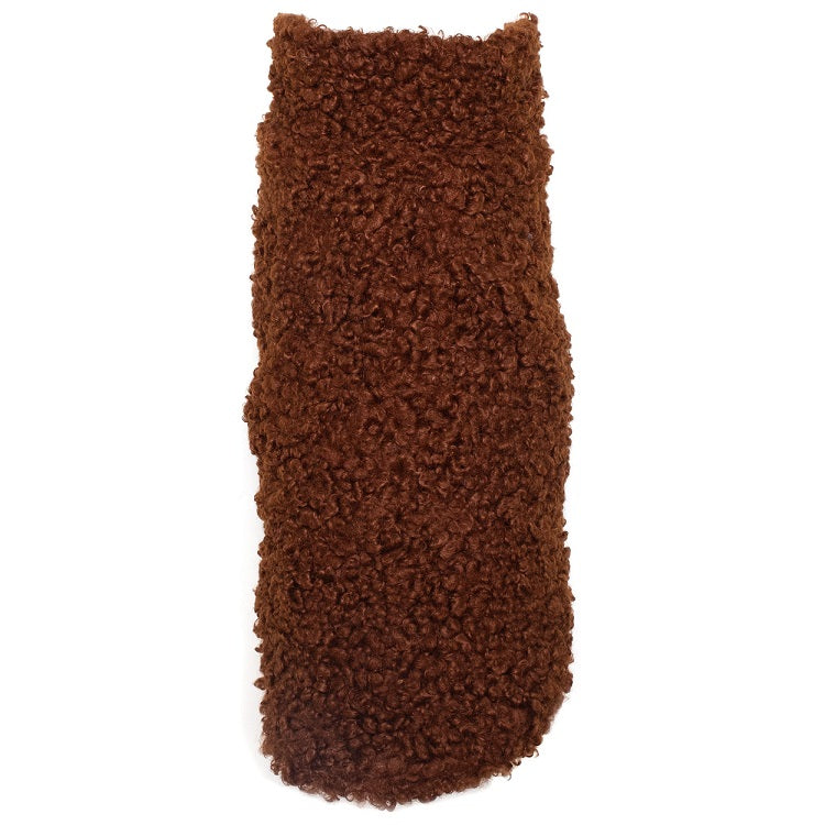 Brown Boucle Dog Jacket