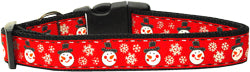 Snowmen Nylon And Ribbon Collar and Leash from StayGoldenDoodle.com