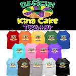 King Cake Taster Screen Print Mardi Gras Dog Shirt