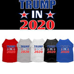 Trump 2020 Screen Print Dog T-Shirt from StayGoldenDoodle.com