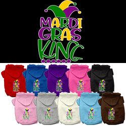 Mardi Gras King Screen Print Mardi Gras Dog Hoodie from StayGoldenDoodle.com
