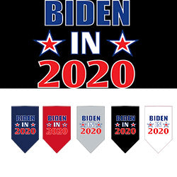 Biden 2020 Screen Print Bandanas from StayGoldenDoodle.com