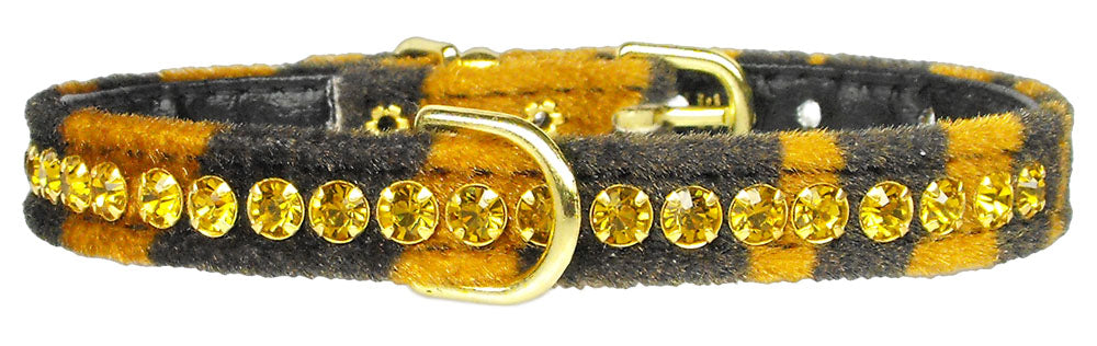 Princess Tiger Crystal Animal Print Dog Collar - staygoldendoodle.com
