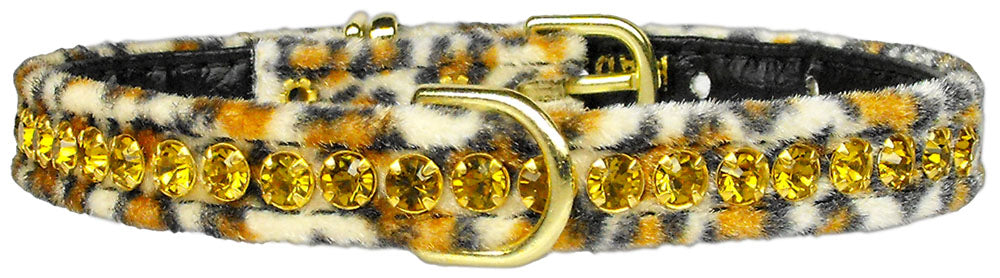 Princess Jaguar Crystal Animal Print Dog Collar - staygoldendoodle.com
