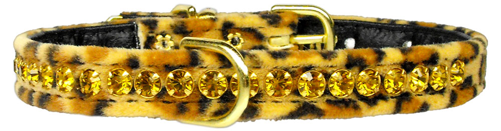 Princess Leopard Crystal Animal Print Dog Collar - staygoldendoodle.com