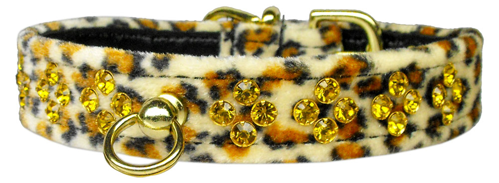 Sahara Jaguar Crystal Animal Print Dog Collar - staygoldendoodle.com