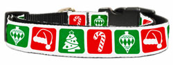 Timeless Christmas Nylon And Ribbon Collar and Leash from StayGoldenDoodle.com