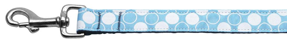 Diagonal Dots Nylon Collar  Baby Blue 1 Wide 6ft Lsh - Stay Golden Doodle