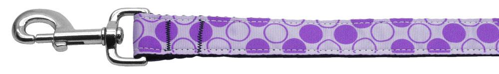 Diagonal Dots Nylon Collar  Lavender 1 Wide 6ft Lsh - Stay Golden Doodle