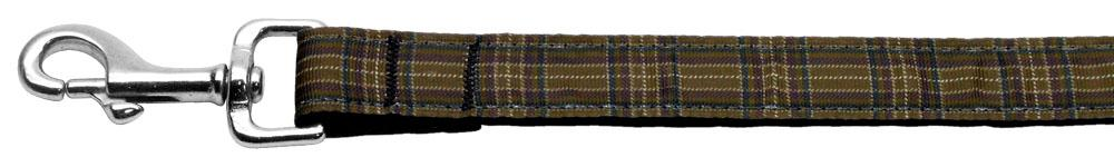 Plaid Nylon Collar  Brown 1 Wide 4ft Lsh - staygoldendoodle.com