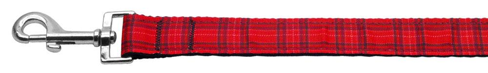 Plaid Nylon Collar  Red 1 Wide 6ft Lsh - staygoldendoodle.com