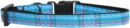 Plaid Nylon Collar  Blue Small - staygoldendoodle.com