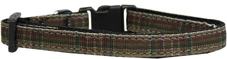 Plaid Nylon Collar  Brown Small - staygoldendoodle.com
