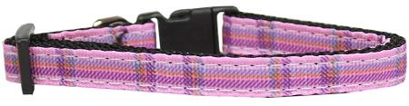 Plaid Nylon Collar  Pink Small - staygoldendoodle.com