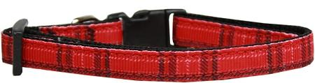 Plaid Nylon Collar  Red Small - staygoldendoodle.com