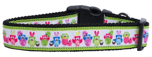 Easter Birdies Nylon Dog Collar Xl - Stay Golden Doodle
