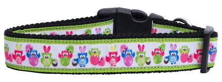 Easter Birdies Nylon Dog Collar Xs - Stay Golden Doodle