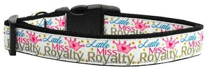 Little Miss Royalty Nylon Collar Medium - staygoldendoodle.com