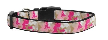 Pink Camo Nylon Collar Medium - Stay Golden Doodle