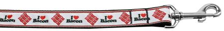 I Love Bacon Nylon Dog Leash 4 Foot - staygoldendoodle.com