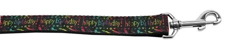 Happy Birthday Nylon Dog Leash 4 Foot - Stay Golden Doodle