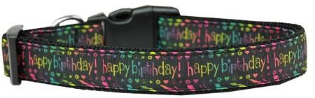 Happy Birthday Nylon Dog Collar Medium - Stay Golden Doodle