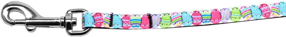 Easter Egg Nylon Ribbon Pet Leash 3-8 Inch Wide 6ft Lsh - Stay Golden Doodle