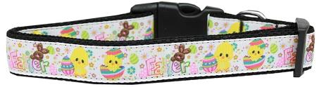 Happy Easter Nylon Dog Collar Large - staygoldendoodle.com