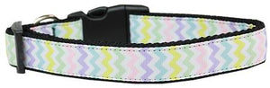 Spring Chevron Nylon Dog Collar Large - staygoldendoodle.com