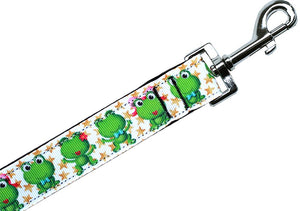 Happy Frogs Nylon Pet Leash 5-8in By 4ft - staygoldendoodle.com