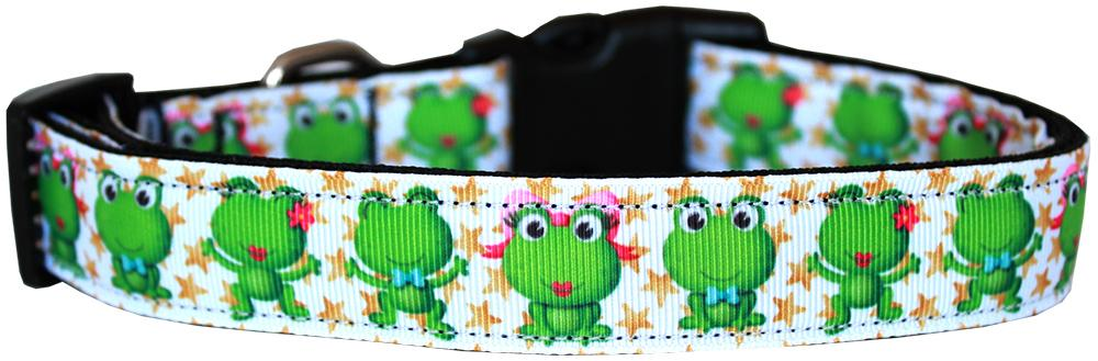 Happy Frogs Nylon Dog Collar Sm - Stay Golden Doodle