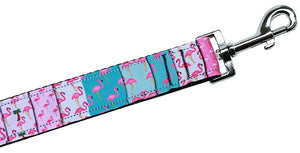 Flamingo Fun Nylon Pet Leash 1in By 6ft - staygoldendoodle.com