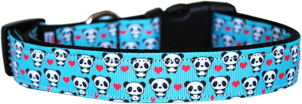 Panda Love Nylon Dog Collar Sm - Stay Golden Doodle