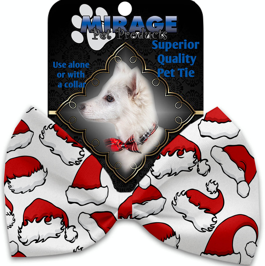 Santa Hats Pet Bow Tie Collar Accessory With Velcro
